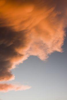 Orange cloud at sunset