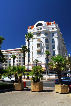 Luxury hotel on Croisette promenade in Cannes, France