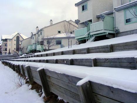 Winter Townhouse Row