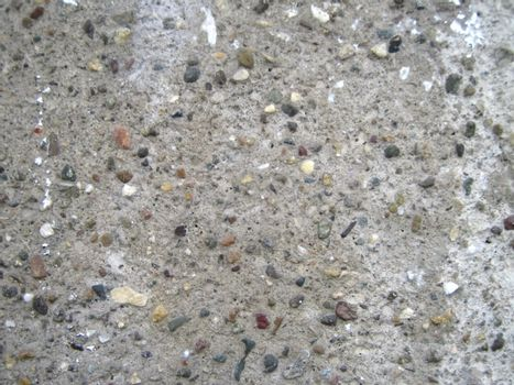 concrete with varicolored small stone