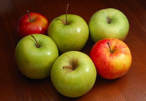 Colored apples