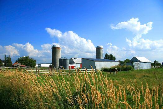 Working farm in rural Quebec, Canada