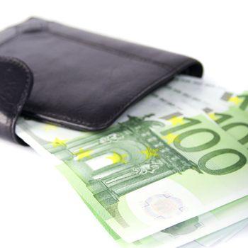 euro and a purse