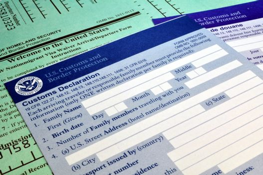 Arriving in the USA: Customs forms