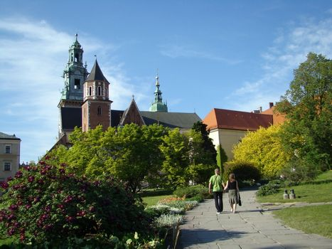 royal cathedral in Cracow on Wawel Hill, Poland