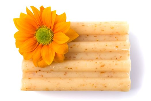 natural soap and flower