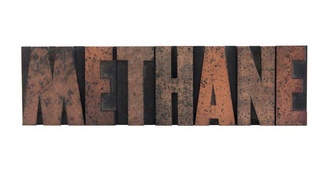 methane in letterpress wood type
