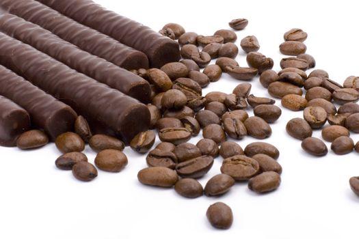 chocolate bars and coffee