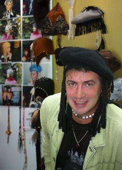 Fashion designer Roman Delivron. The international display