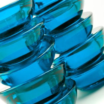 blue glass abstraction