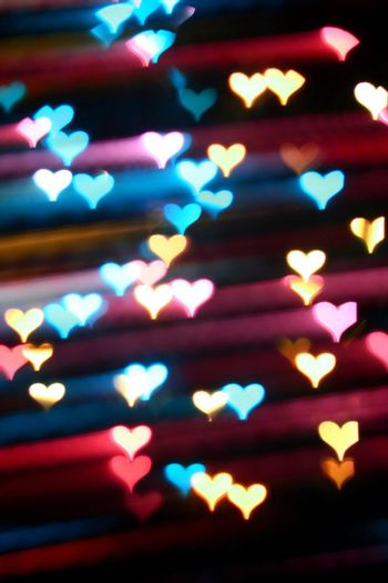 motion colored  heart abstract love background