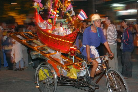 Parade in the honour of the festival of Loy Krathong, Chiang Mai, Thailand