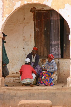 Familyscene in the shade in Madagascar