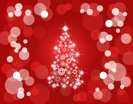 Holiday light background/red