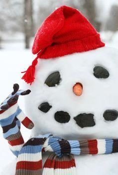Smiley face snowman
