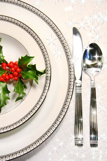 Silver plate setting