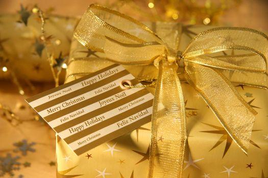 Festive holiday greetings