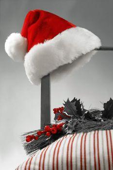 Santa Hat on a chair
