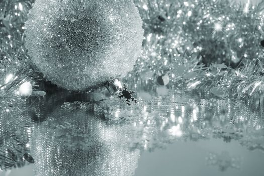 Silver blue ice ball