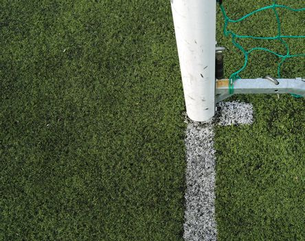 Goalpost on a soccerfield