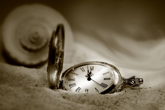 Watch lost in the sand/Sepia tone