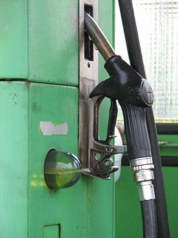 Detail of a gas filling station