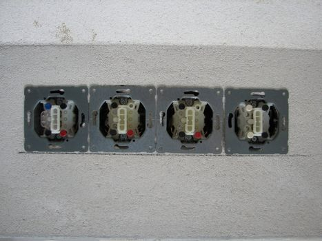 electric installations: light switches in a newly built house