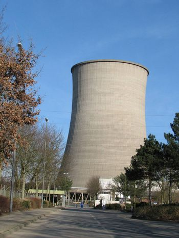natural gas power plant cooling chimney, Lingen, Germany