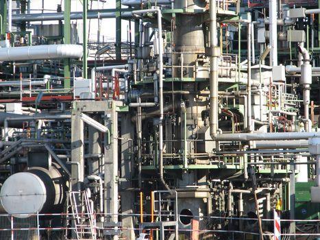 oil refinery, Germany, 2008