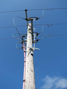 power supply lines, Norfolk, England, 2007