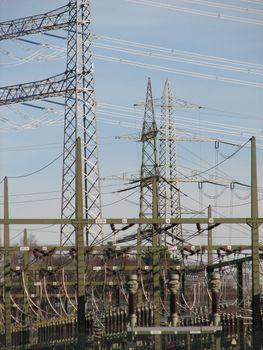 electricity production, Emsland, Germany, 2008