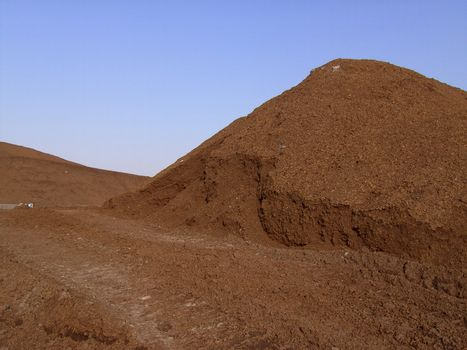 Peat, open-cast mining, Emsland, Germany