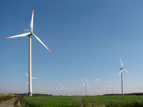 Windmills, Emsland, Germany, 2007