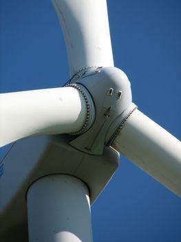Detail of the rotorhead, Windmills, Emsland, Germany, 2007