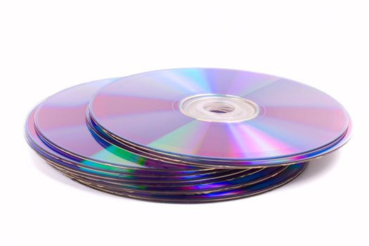 stack of DVD's