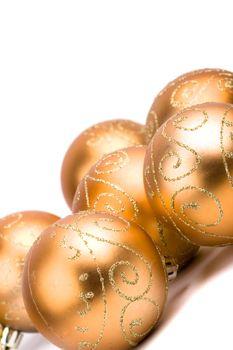 golden glass christmas balls