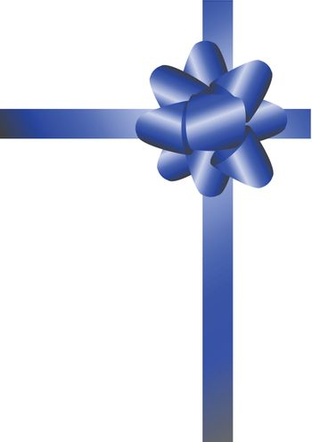 Blue shiny ribbons. Can be easily overlayed on another image (Vector)