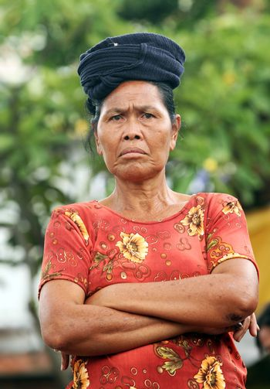 Portrait the adult woman. Indonesia. Bali