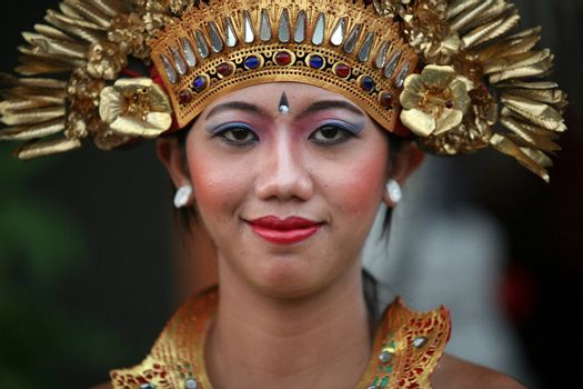 Portrait of the young smiling girl Bali