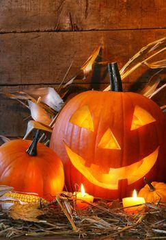 Funny faced pumpkin