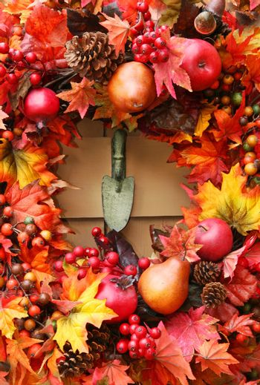 Festive autumn wreath