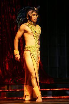 The man the dancer in a night club. Bali. Indonesia