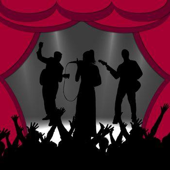 illustration of a concert