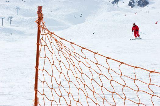 Ski slope fence