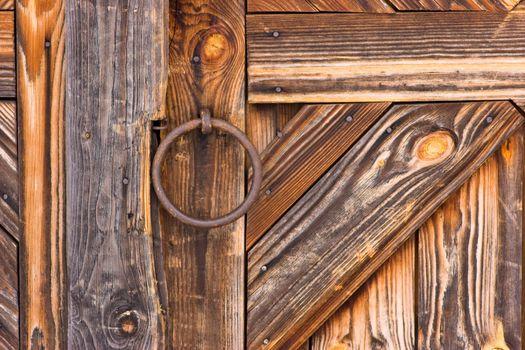 Detail of rustic door