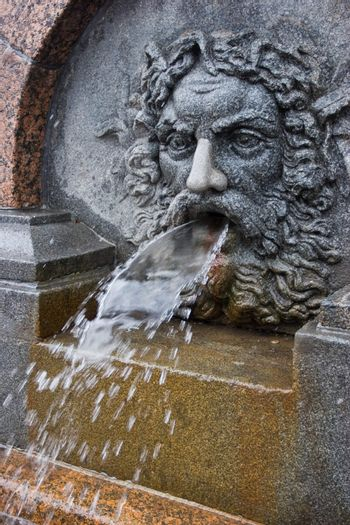 Bas-relief  fountain in St. Petersburg, Russia