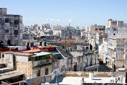 Slum block of a city