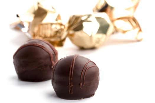 two chocolate candies