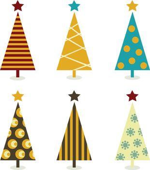 Retro christmas tree elements