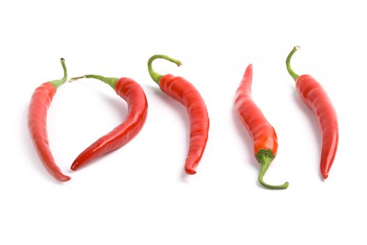 five red chilly peppers